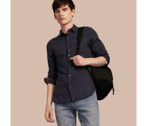 Hemd aus Baumwollflanell mit Check-Detail
