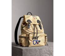 The Large Rucksack aus Nylon mit Comic-Motiv