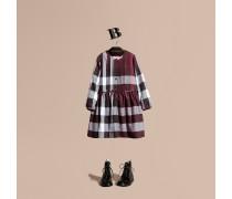 Kleid Aus Baumwolle In Check Mit Biesendetail