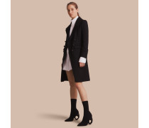 Zweireihiger Mantel aus einer Wollmischung