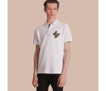 Poloshirt aus Baumwollpiqué mit  Beasts-Motiv