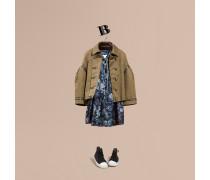 Jacke aus Stretchbaumwolle im Military-Stil
