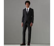 Anzug aus Wolle in Soho-Passform mit Karomuster
