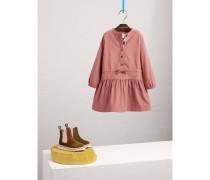 Kleid aus Baumwollcord mit Raffung und definierter Taille