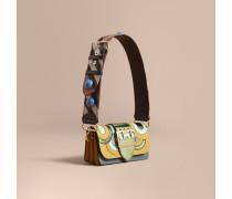 The Small Buckle Bag aus Leder mit Natternleder-Applikation