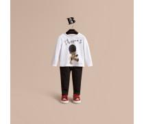 Baumwolloberteil mit -Teddybär-Motiv