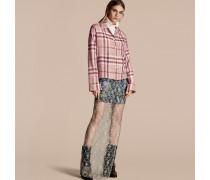 Bluse Im Pyjamastil Aus Baumwolle Mit Check-muster