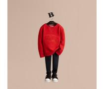 Baumwoll-sweatshirt Mit Ritterdetail
