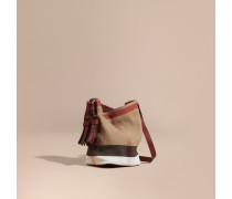 The Small Ashby Aus Canvas Check-gewebe Und Leder