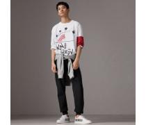 Langarmshirt aus Baumwolle mit Aufdruck - von  + Kris Wu