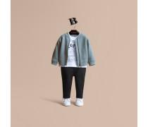Sweatshirt aus Baumwolle mit Londoner Wahrzeichen-Motiv