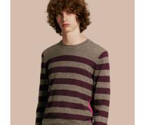 Gestreifter Pullover aus Kaschmir und Baumwolle
