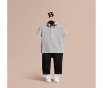 Poloshirt aus Baumwolle mit Karomuster am Kragen