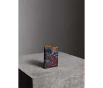 Faltbares Kartenetui aus Leder mit  Beasts-Aufdruck