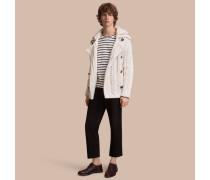 Jacke aus technischer Baumwolle mit Aran-Strickmuster