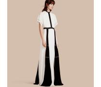 Bodenlanges Kleid aus Seide