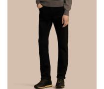 Jeans aus Stretchdenim mit gerader Passform