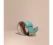 Gürtel aus strukturiertem Veloursleder mit Lederapplikation