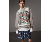 Sweatshirt aus Jersey mit  Beasts-Aufdruck und Seidenpanel