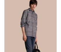 Hemd aus Oxford-Baumwolle im Karodesign