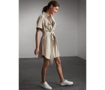 Hemdkleid aus Baumwolle mit Taillengürtel