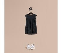 Kleid Aus Baumwolltüll Mit Punktmuster