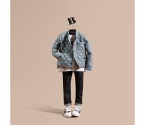 Technische Jacke in Rautensteppung mit kontrastierenden Steppnähten