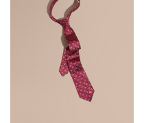 Modern geschnittene Krawatte aus floralem Seidenjacquard