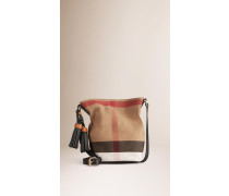 The Small Ashby In Canvas Check Und Leder