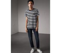 Gestreiftes Baumwoll-T-Shirt