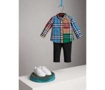 Baumwollhemd mit kontrastierendem Karomuster
