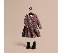 Kleid mit Rüschendetail und Blumenmotiv