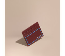 Kartenetui aus London-Leder mit Randdetail