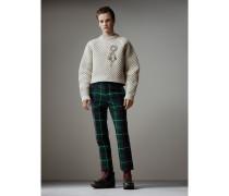 Formschöner kurzer Pullover mit Wabenmuster