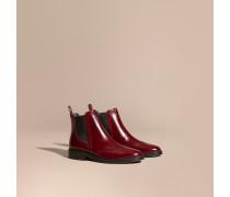 Chelsea-Stiefel aus Leder mit Wingtip-Detail