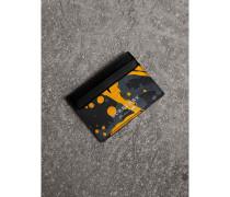 Kartenetui aus Trench-Leder im Farbklecks-Design