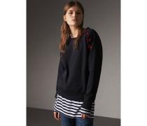 Sweatshirt aus Baumwolle mit Resinknöpfen
