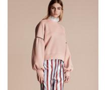 Jersey-Sweatshirt aus einer Baumwollmischung mit Puffärmeln