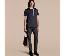 Baumwoll-T-Shirt mit Rüschendetail