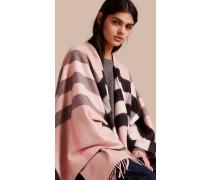 Poncho aus Kaschmir und Wolle mit Check-Muster