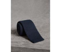 Schmale Krawatte aus Wolle in Waffelstrick