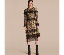 Kleid Aus Besticktem Tüll Mit Bedrucktem Seidenfutter
