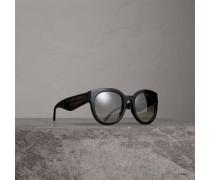 Sonnenbrille mit rundem Gestell