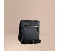 Crossbody-Tasche in Smoked Check mit Lederbesatz
