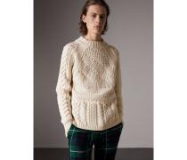Pullover aus Wolle und Kaschmir mit Aran-Strickmuster