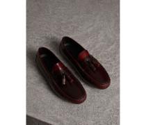 Loafer aus poliertem Leder mit Troddeln