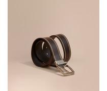 Wendbarer Gürtel aus London-Leder mit Randdetail
