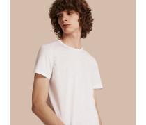 T-Shirt aus Baumwolle mit Steppnahtdetail