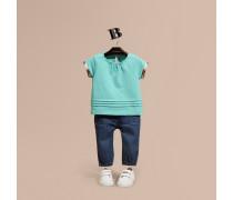 T-Shirt aus Baumwolle mit Karodetail