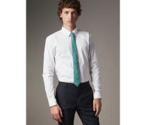 Schmal geschnittenes Hemd aus Stretchbaumwolle mit Button-down-Kragen